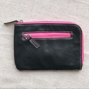 Target | Neon Pink and Black Faux Leather Wallet